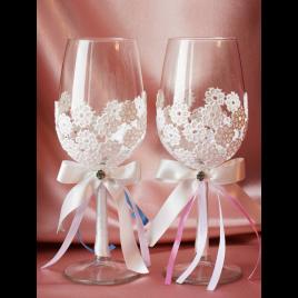 Свадебные бокалы «Два бриллианта»