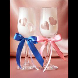 Свадебные бокалы «Сердца двух»