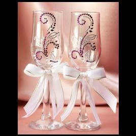 Свадебные бокалы «Сиреневые лилии»