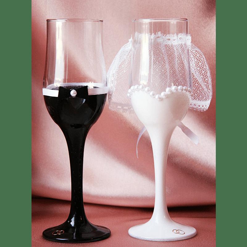 Свадебные бокалы «Жених и Невеста»