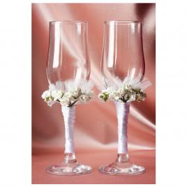 Свадебные бокалы «Два букета»