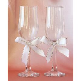 Свадебные бокалы «Скромная пара»
