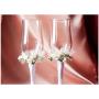 Свадебные бокалы два букета