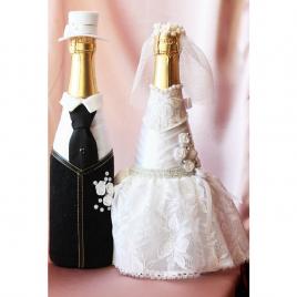 Свадебный наряд для бутылок «Пышная невеста»