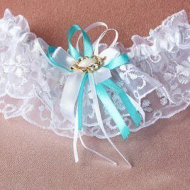 Подвязка невесты «Нежность бирюзовой волны»