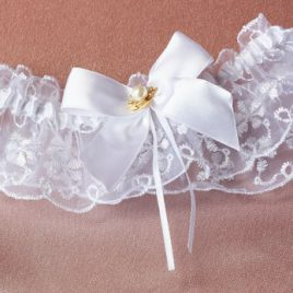 Подвязка невесты «Принцесса с жемчугом»