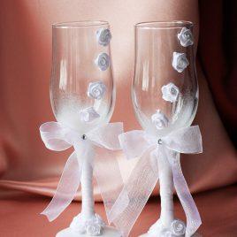 Свадебные бокалы «Нежность»