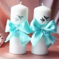 Самодельные свечи для свадьбы