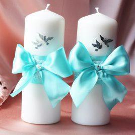 Свадебные свечи «Бирюза»