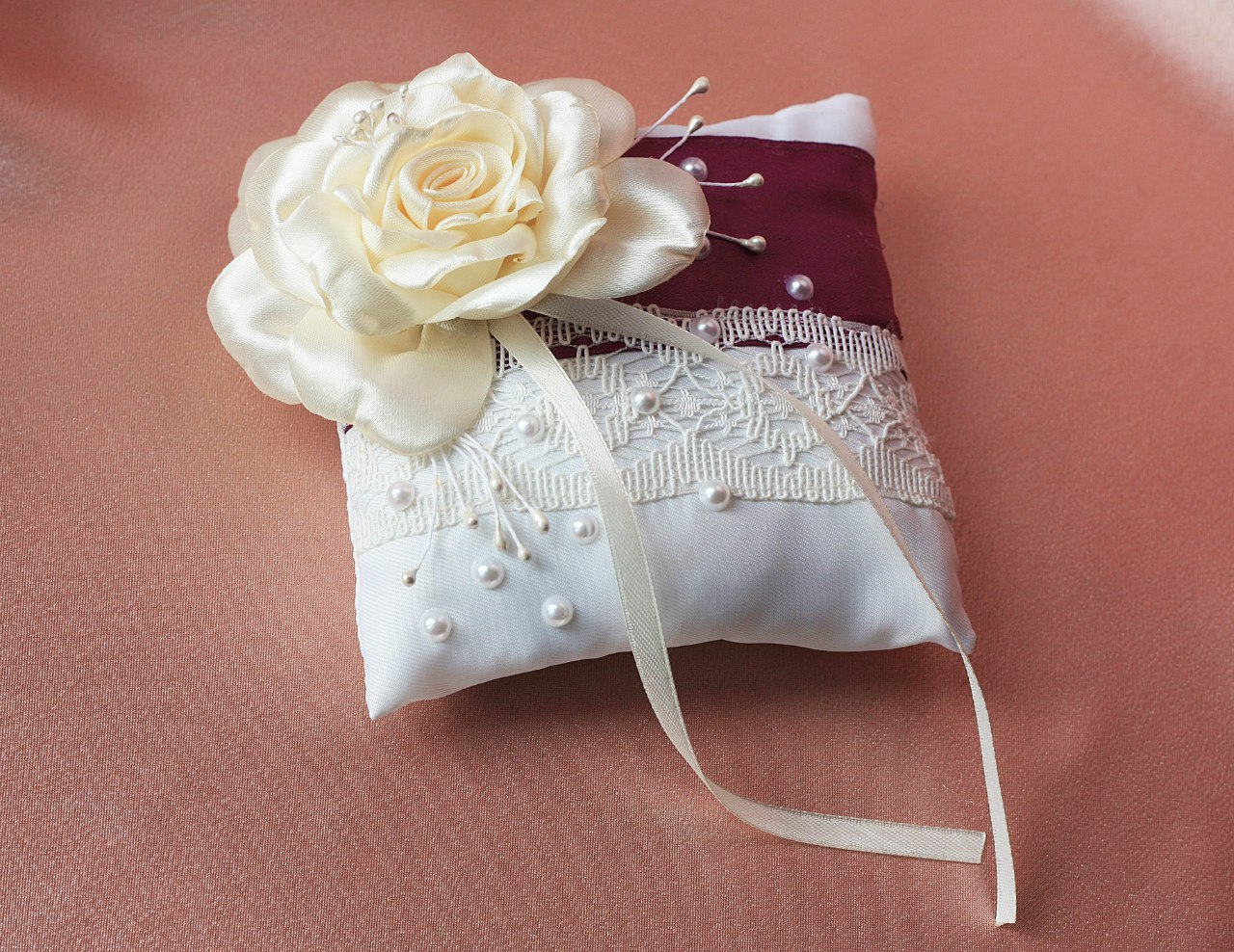 Как сшить подушечку для колец на свадьбу 56