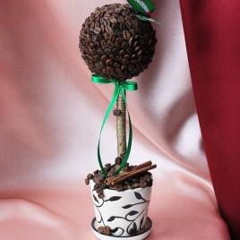 Дерево счастья с Кофе с бабочкой