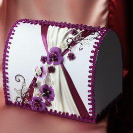 Сундук для денег Фиалка фиолетовая