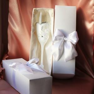 Коробочки для свадебных бокалов ( 2 шт)