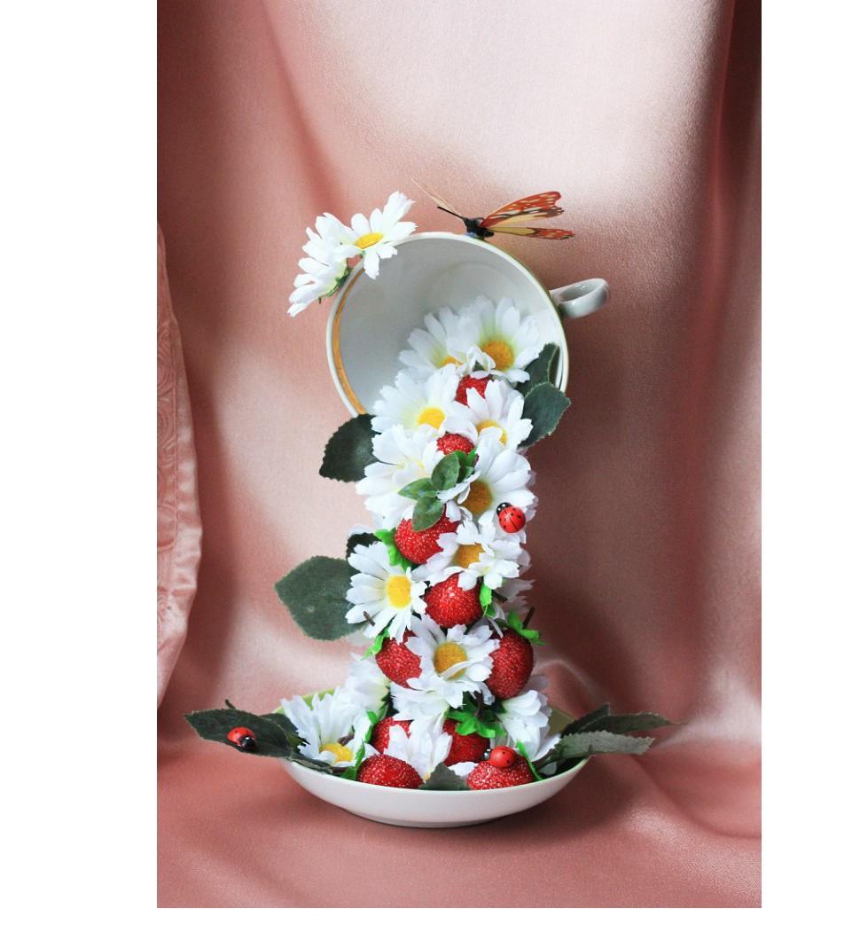 Чашки с цветами своими руками фото 5