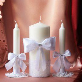 Свадебные свечи Белоснежные