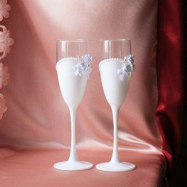 Свадебные бокалы Три цветка