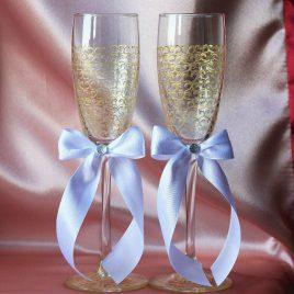 Свадебные бокалы Золотая Паутинка