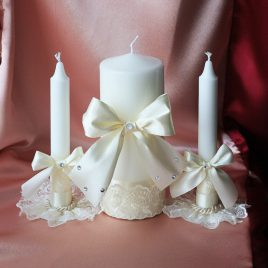 Свадебные свечи Айвори