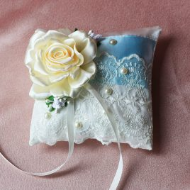 Подушка для колец Голубая лента