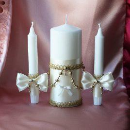 Свадебные свечи Золотые Фиалки
