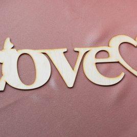 Надпись деревянная Love 2 с покраской