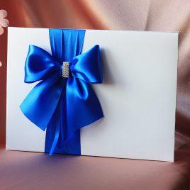 Альбом для пожеланий Бант сбоку синий