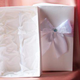 Коробка для двух бокалов Белая