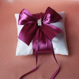 Подушечка для колец Бант фиолетовый