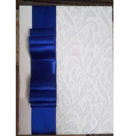 Папка для свидетельства Белое кружево с синим