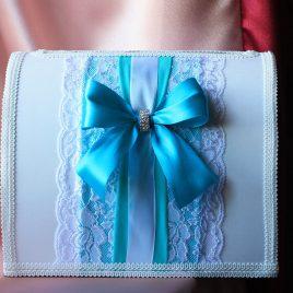Свадебный сундук для денег Отзвук бирюза