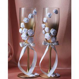 Свадебные бокалы «Золотая роза»