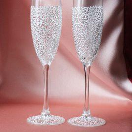 Свадебные бокалы Легкие белые
