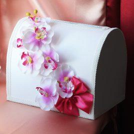 Сундук для денег Орхидея розовая