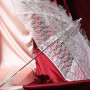 Свадебный зонтик кружевной №1