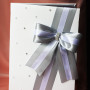 Папка для свидетельства о браке Стразинки и бусинки серебро