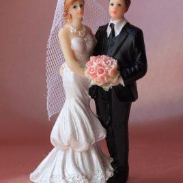 Фигурка свадебная жених и невеста для торта № 2