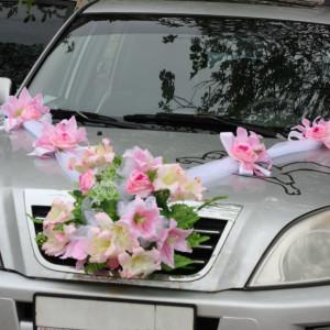 Свадебная лента на капот автомобиля Натали