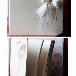 Свадебный альбом Бусинки и стразинки на айвори большой