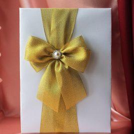 Папка для свидетельства о браке Бант золотой