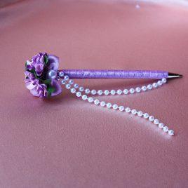 Ручка светло сиреневый цветок