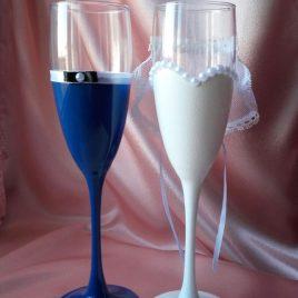 Свадебные бокалы жених и невеста №2