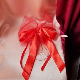Бант на свадебную машину №4 красный