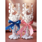 """Свадебные бокалы """"Голуби счастья"""""""