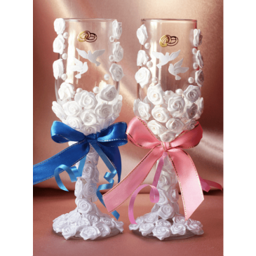 Свадебные бокалы «Голуби счастья»