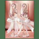 """Свадебные бокалы """"Сиреневые лилии"""""""