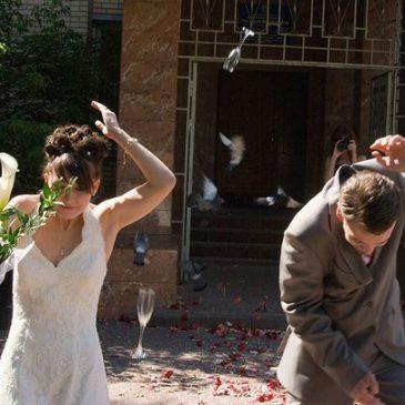 Свадебные бокалы для молодоженов