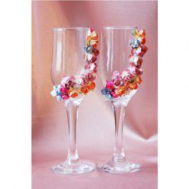 """Свадебные бокалы """"Весенняя любовь"""""""