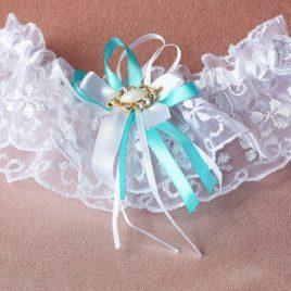 """Подвязка невесты """"Нежность бирюзовой волны"""""""