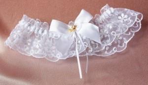 """Подвязка невесты """"Принцесса с жемчугом"""""""