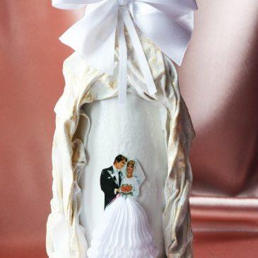 """Свадебный наряд для бутылки """"Превосходство"""""""